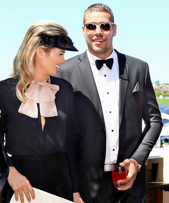"Jesinta Campbell and her fiance, Sydney Swans star Lance ""Buddy"" Franklin."