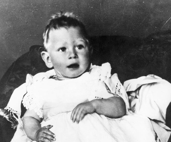 Although he may not have been as handsome in real life as his on-screen portrayal by Colin Firth in The King's Speech, George VI was a very cute baby.