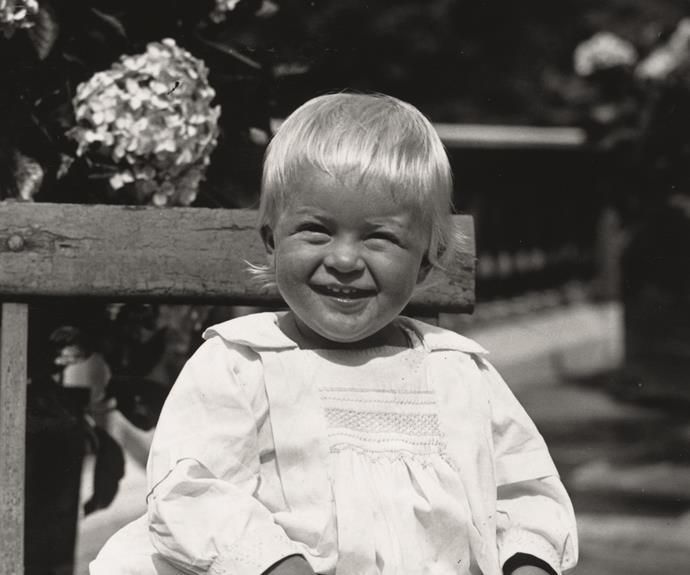 Queen Elizabeth's other half, Prince Philip, Duke of Edinburgh, was born a Prince of Denmark and Greece. Sitting on the steps for his birthday portrait, we can see he's been a joker since birth!