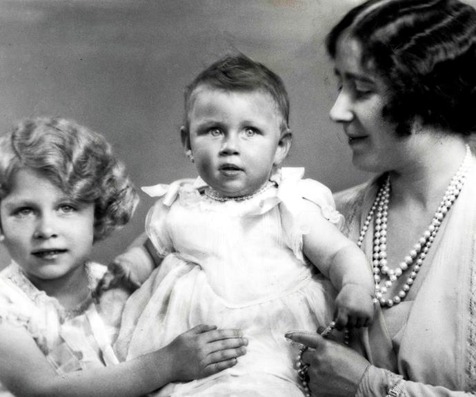 Queen Elizabeth's only sister, Princess Margaret, was considered the wild child of the family. Here she is with her mother, Elizabeth, the Queen Mother, and her sister, Queen Elizabeth.
