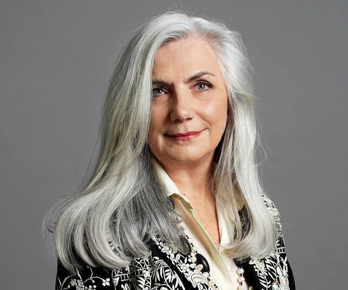 "Anne Moore, 59. ""I started to go grey significantly in my early 40s. I made the decision that when it went grey I would go with it rather than work against it."""