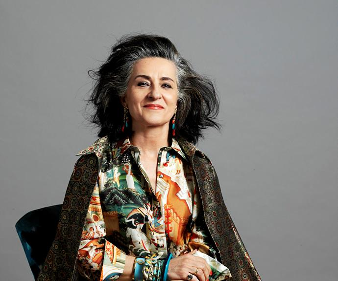 """Eleni Nakopoulos, 61. """"I admire women who grow old gracefully,"""" she says. """"We're all going to go grey, so it's just a matter of when."""""""