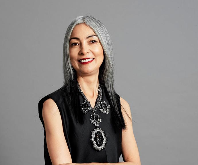 "Leanne Cowie, 51. ""I've found it a really liberating process,"" Leanne says about going grey. ""I wanted to show that I've actually lived a life""."