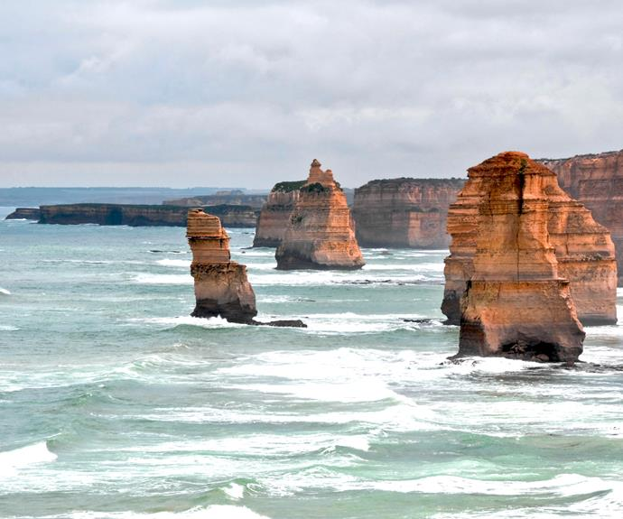 The Twelve Apostles along the Great Ocean Road, Victoria.