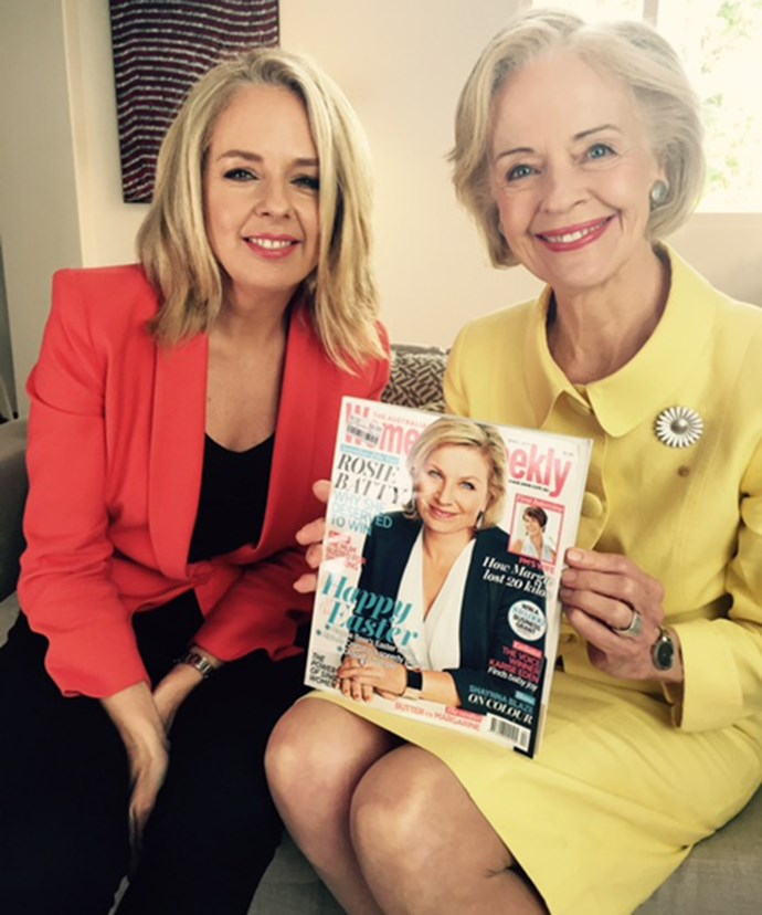 The Weekly Editor, Helen McCabe and The Honourable Dame Quentin Bryce showing their support.