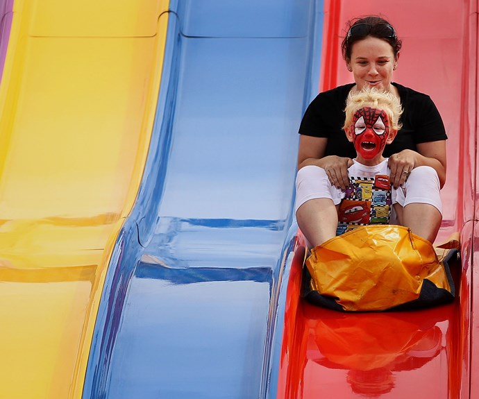 The big slide is always a favourite at The Sydney Royal Easter Show.