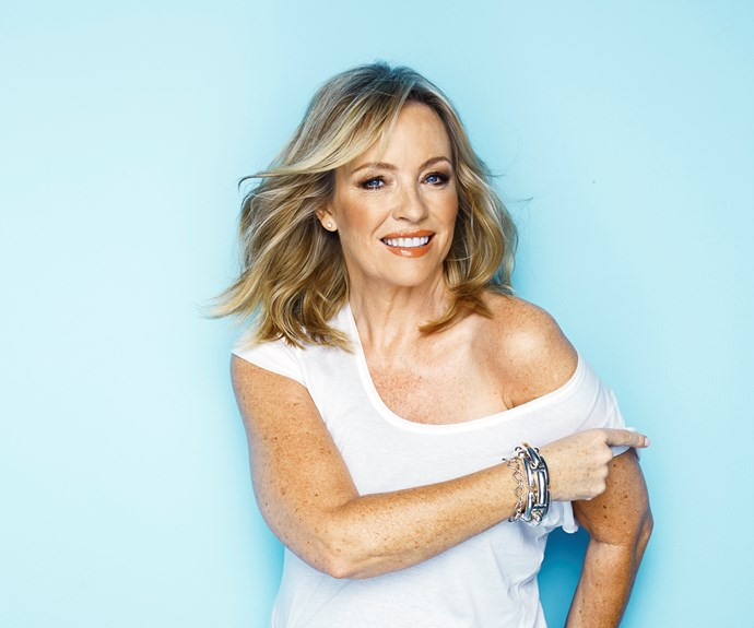 Rebecca Gibney in her shoot with the Australian Women's Weekly
