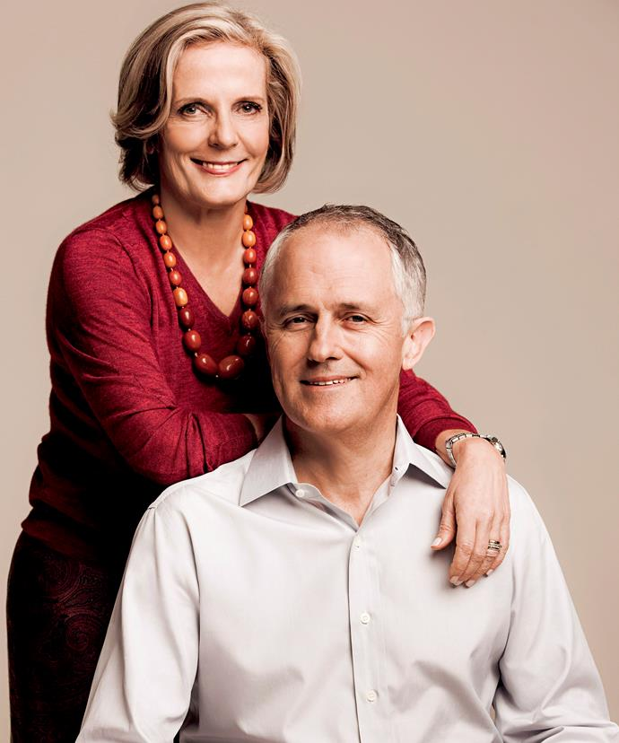 "Malcolm Turnbull told The Weekly about the moment he fell in love with his wife Lucy in our January 2014 edition. ""It was her smile that entranced me. It was so open, so happy, so refreshingly sane, at once mischievously funny and worldly wise and, above all, full of love,"" he wrote."