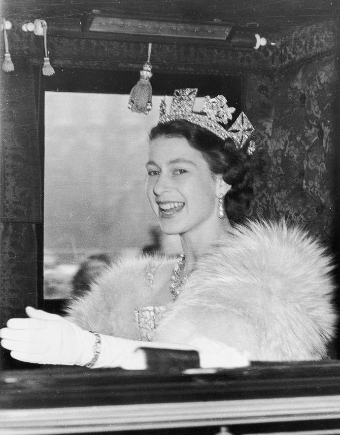 Elizabeth's father, George VI, died in 1952 and Elizabeth was crowned Queen a month later.