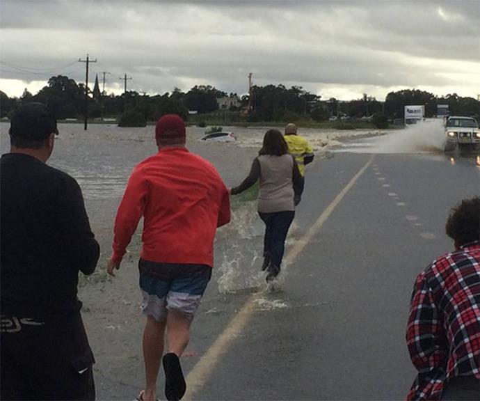 Residents rush to help. via @newcastleherald