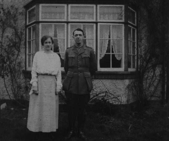 Kath and Gordon before their wedding.