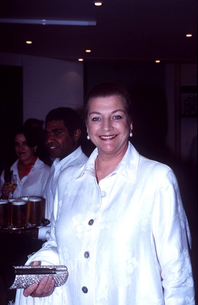 Maggie Tabberer or 'Maggie T', won two consecutive Gold Logies in 1970 and 1971 for her work on her talkshow, *Maggie*.