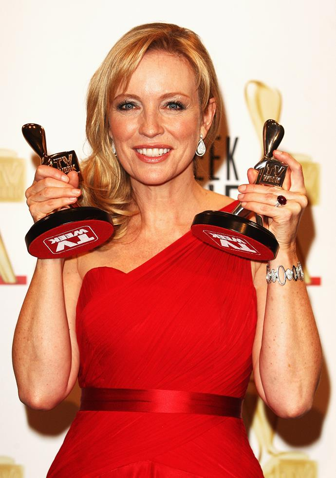 Rebecca has been nominated for a Gold Logie four times in your career, and won two of them.