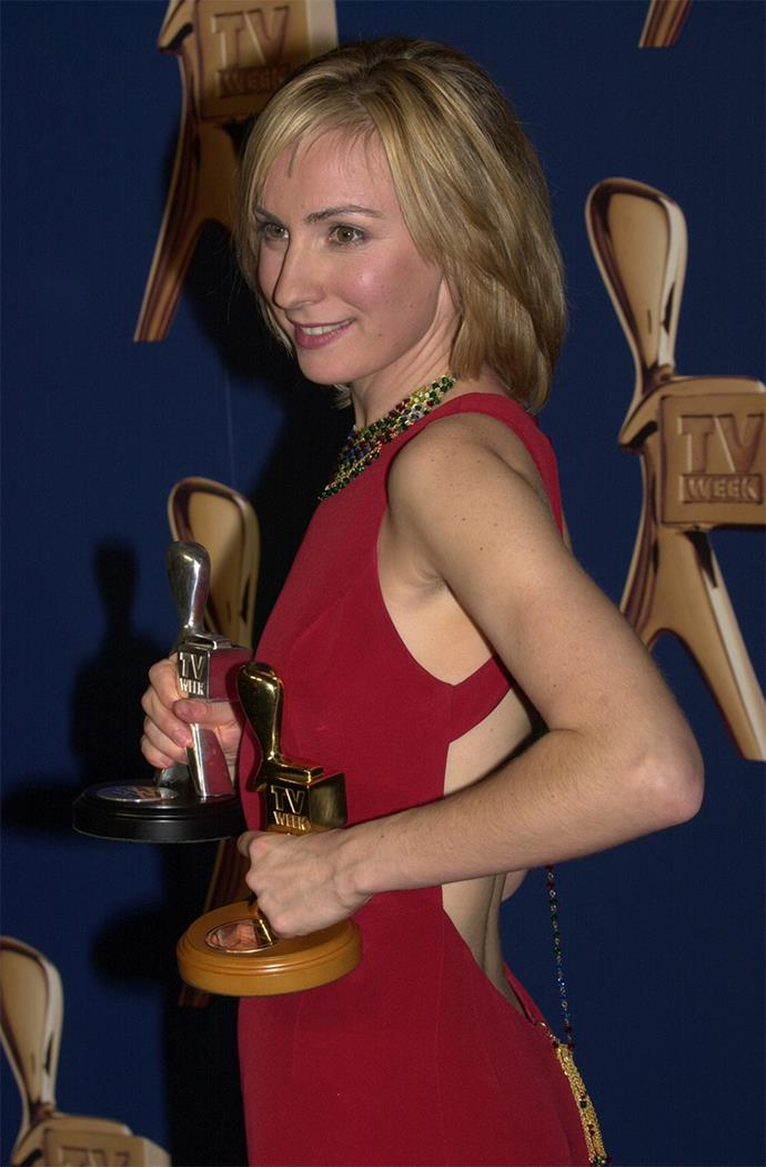 Lisa McCune holds the record for the most Gold Logies won, with a whopping four consecutively in 1997, 1998, 1999 and 2000 for **Blue Heelers.**