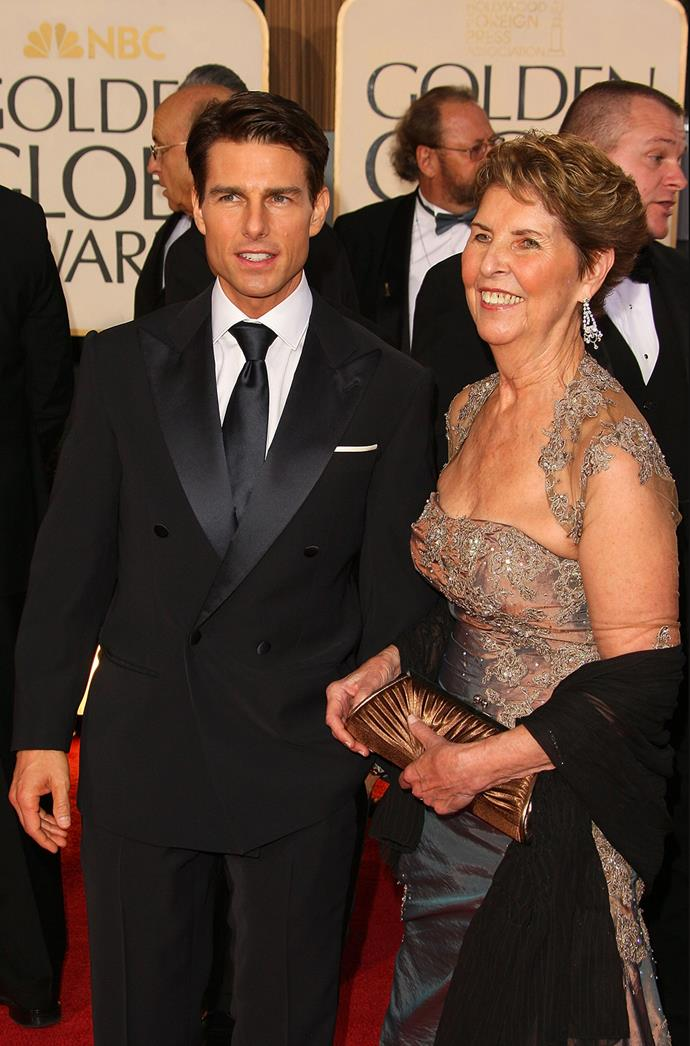 "**Tom Cruise and Mary Lee Cruise:** ""My mom kept saying, 'you've got so much potential. Don't give up.' She worked three jobs and took care of my sisters and me."""