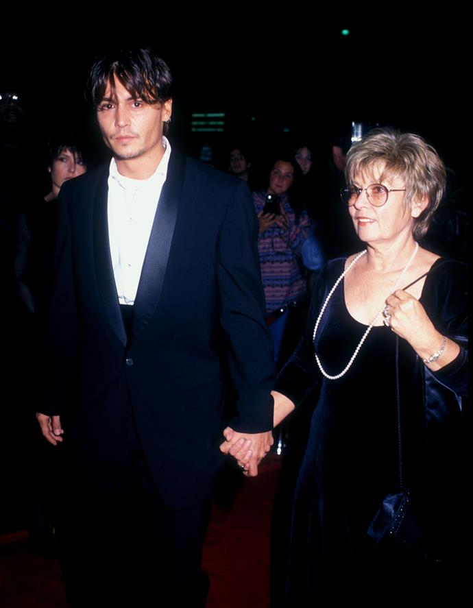 "**Johnny Depp and Betty Sue Depp:** ""The greatest lady in the world. She's my best friend, the coolest thing in the world"