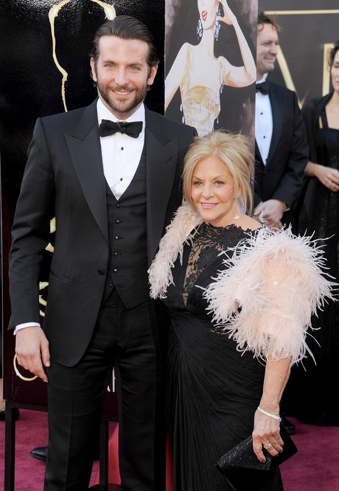 "**Bradley Cooper and Gloria Campano:** In 2013, Cooper admitted that he had been living with his mother for two years after the death of his father. ""Here's the thing: She's a cool chick. We can hang, and she can roll with the punches."""