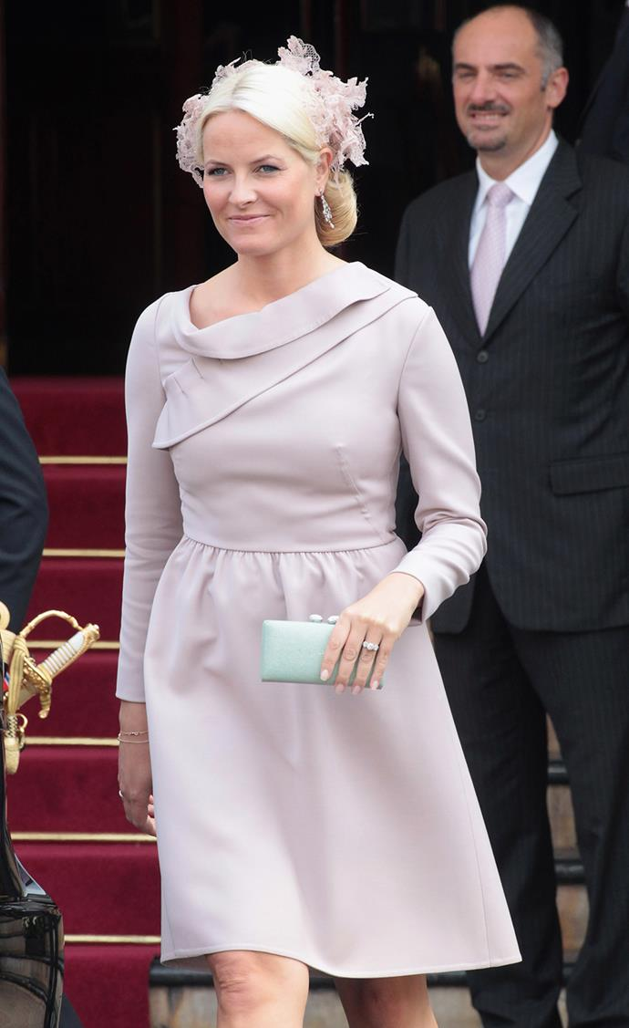 **Princess Mette-Marit of Norway** always gets it right, with her delicate fascinators.