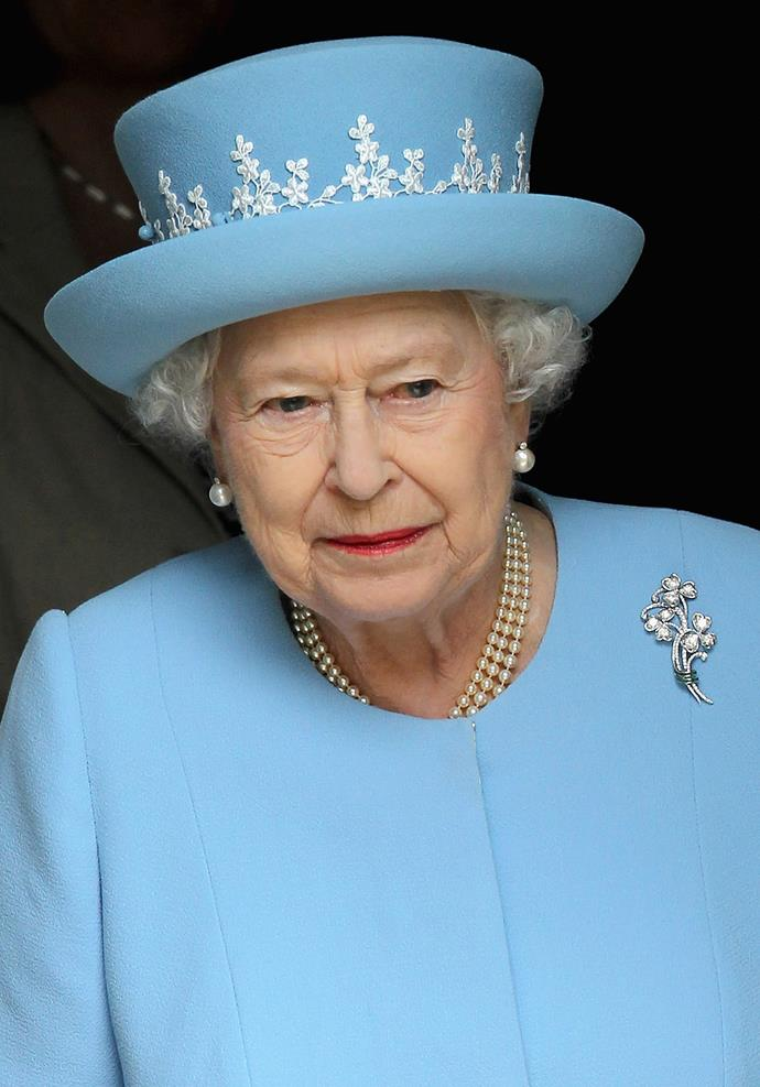 Her Majesty, **Queen Elizabeth**, doesn't usually stray from her derby hat style.