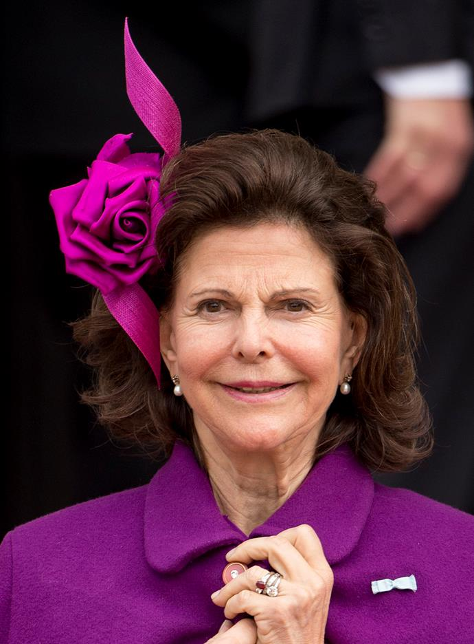 We love **Queen Silvia's** elegant rose and ribbon twist.