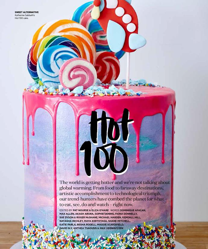 The towering cake Sabbath created for *Australian Gourmet Traveller's* Hot 100.