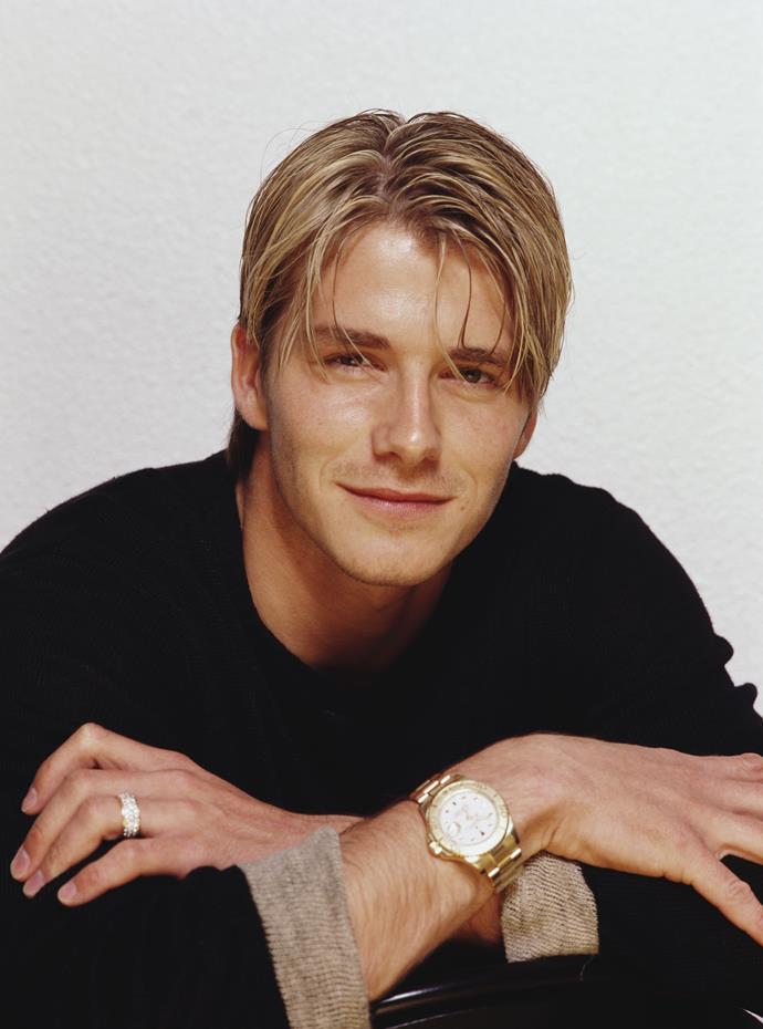 English footballer David Beckham, 1999. (Photo by Tim Roney/Getty Images)