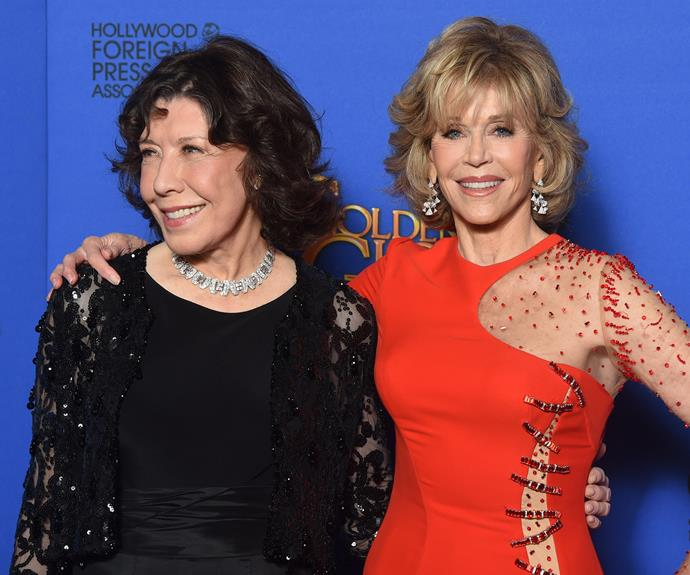 Jane Fonda and her friend and co-star Lily Tomlin.