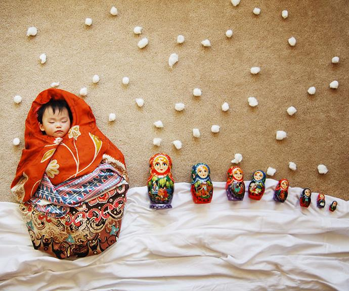 Or snuggled up as Russian dolls.