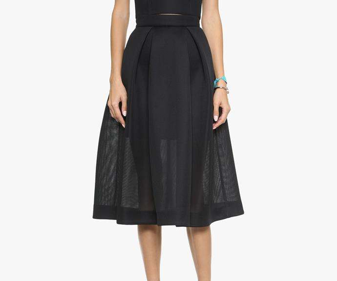 Full skirt silhouettes are set to dominate winter trends. Try this [Nicholas swing skirt, $442](http://www.shopbop.com/embroidered-mesh-ball-skirt-nicholas/vp/v=1/1546262101.htm?folderID=2534374302194701&fm=other-shopbysize-viewall&colorId=12867).