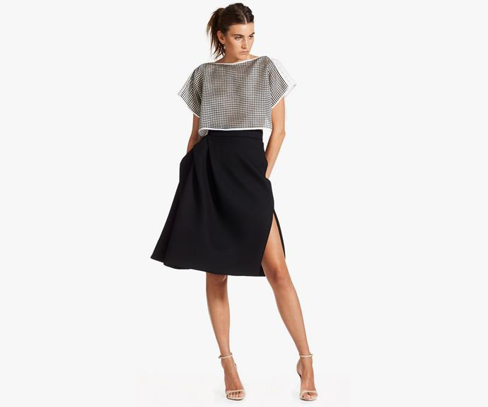 Maticevski's sexy twist on the full skirt is perfect for winter. [Maticevski Attraction skirt, $950](http://www.tonimaticevski.com/shop-clothing/skirts/attraction-skirt.html)