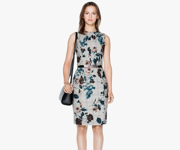 Printed dresses are in. Try this [CUE Abstract Floral dress, $295](https://www.cue.cc/Shop/Product/Abstract-Floral-Structured-Dress-C90542-W15/265594)