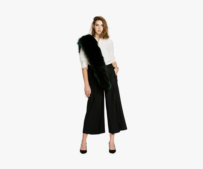 Or try a shorter cut, like these [Country Road pleated culotte pants, $149](http://www.countryroad.com.au/shop/woman/clothing/pants/60176411/Pleat-Culotte.html).