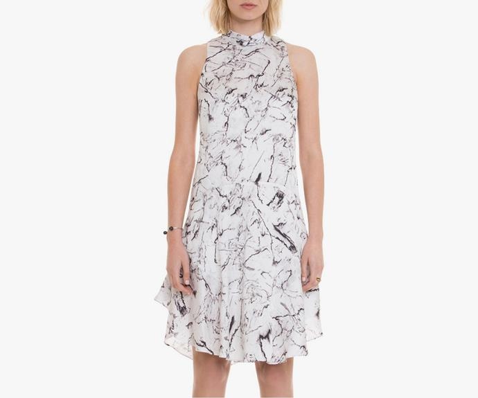 This [Country Road Marble print dress, $109](http://shop.davidjones.com.au/djs/en/davidjones/marble-print-dress-1006-16229--1) is a perfect lighter alternative.