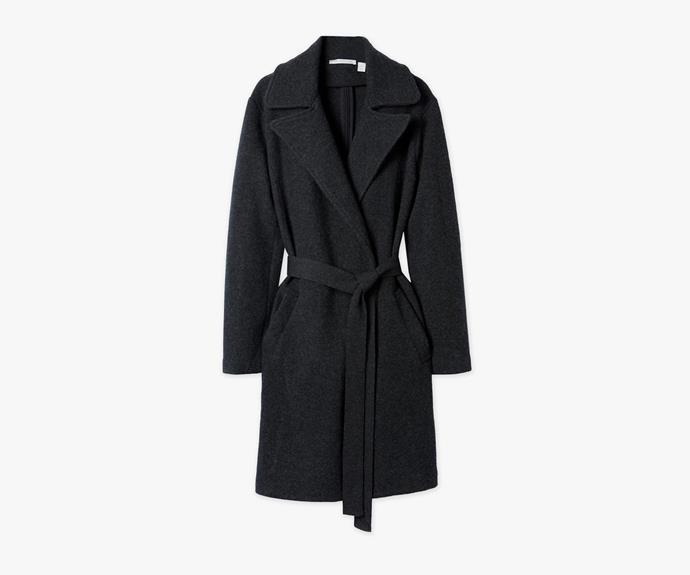 Beat the winter chill and bundle up in this [Trenery coat, $349](http://www.trenery.com.au/shop/womenswear/clothing/jackets-and-coats/60179337-9255/Wool-Trench-Coat.html).
