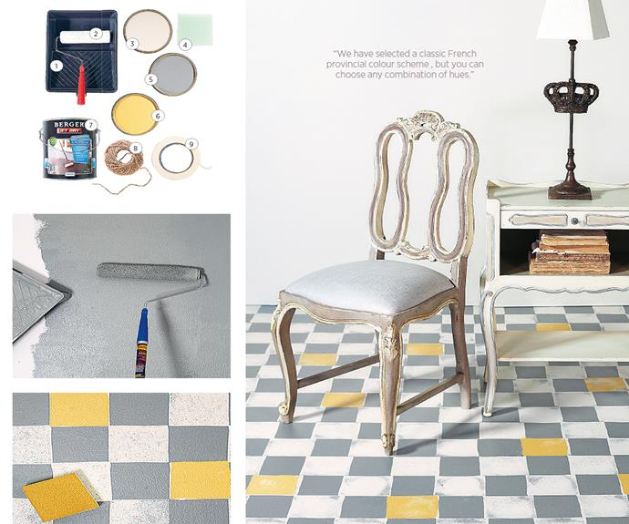 """**How to fake-tile your floor.** How to [here](http://www.aww.com.au/how-to/home-garden/how-to-fake-tile-your-floor-20518
