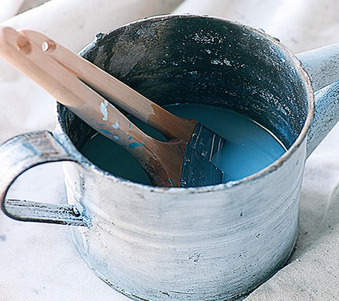 **TIPS ON HOW TO CLEAN AND STORE YOUR BRUSHES** Soak brushes in water (or turpentine if using an enamel paint), until the bristles are free of paint. Run under warm water, add a few drops of dishwashing liquid to the brush and continue rinsing. Wrap brushes in paper towels to maintain their shape, and lay flat to dry. Wrap the brushes in plastic wrap to prevent the bristles from hardening.