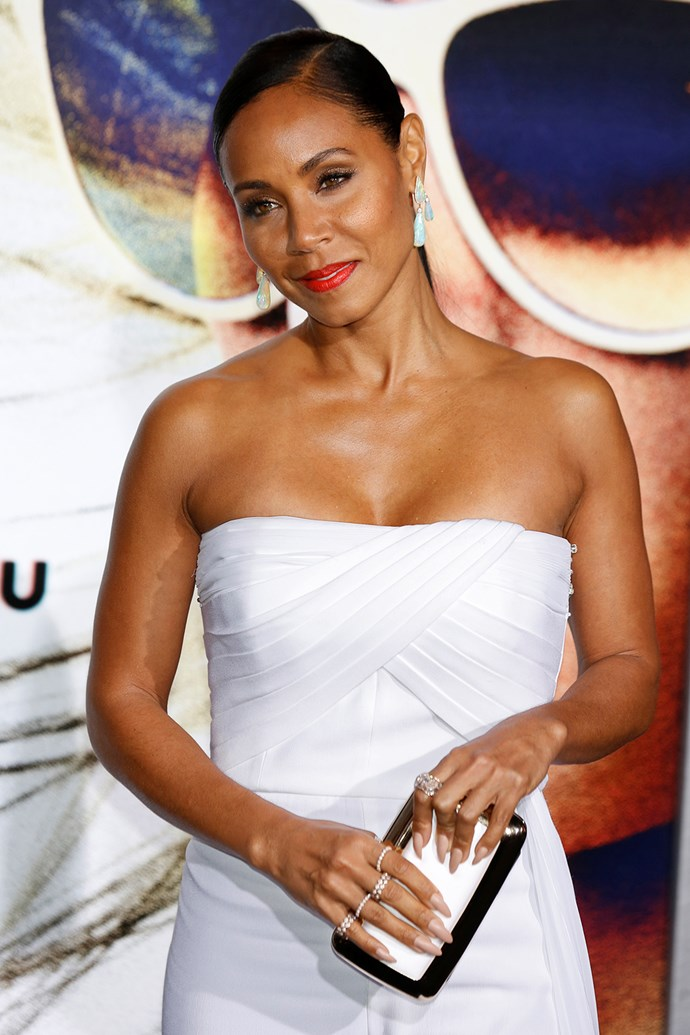 """**Jada Pinkett-Smith** The actress recently revealed she used to use alcohol to cope with her depression.   """"I found myself drinking two bottles of wine on the couch and I said, 'Jada, I think we've got a problem here'. I had problems with alcohol, and I really had to get in contact with the pain, whatever that is, and then I had to get some other tools in how to deal with the pain. From that day on I went cold turkey."""""""