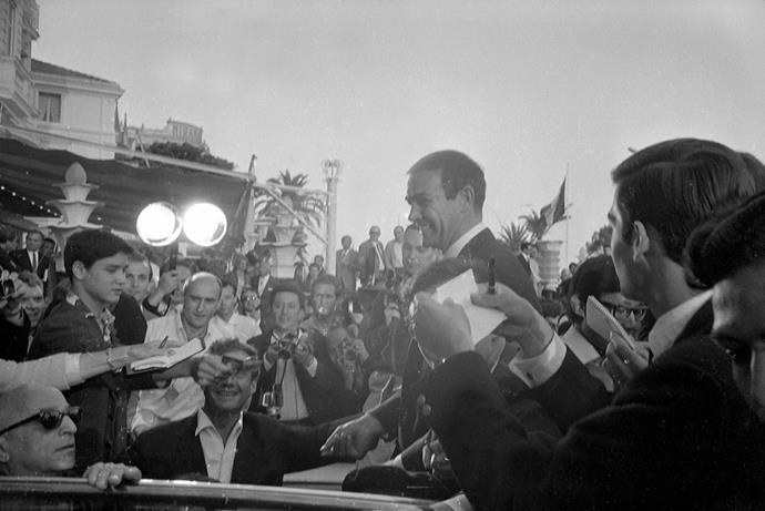 Scottish actor Sean Connery at the Cannes Film Festival, 1965.