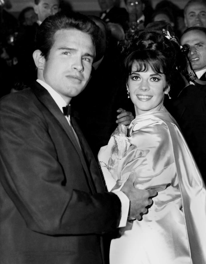Actors Warren Beatty and Natalie Wood at the Cannes Film Festival, 1962.