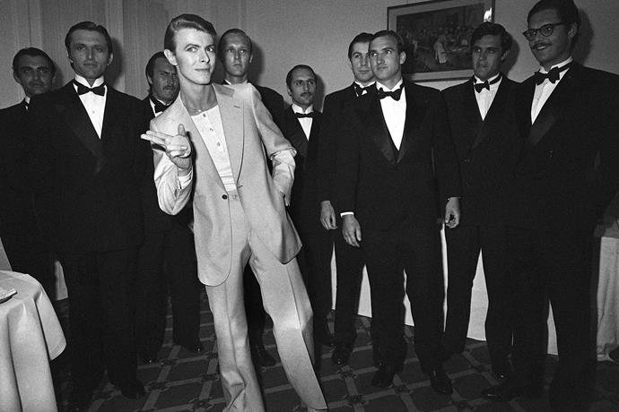 David Bowie attends the awards ceremony in 1978.