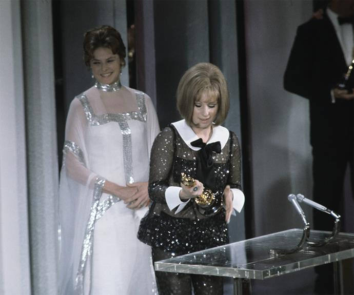 **It's a tie!** For the first time ever, in 1968, Barbra Streisand and Katharine Hepburn became the first two actors two ever be tied for an Oscar. The two got their own statuettes and read out separate speeches.