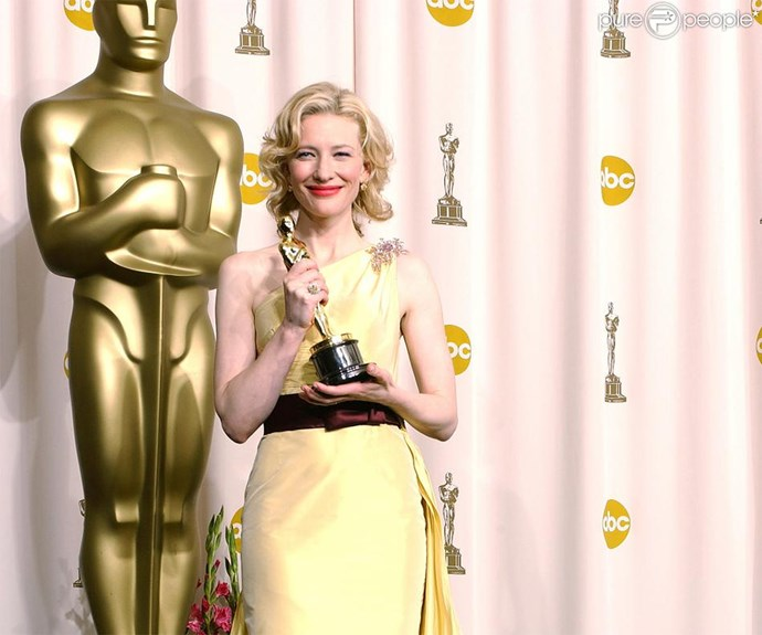 **Golden girl** Our very own Cate Blanchett won her first Oscar for *The Aviator*.