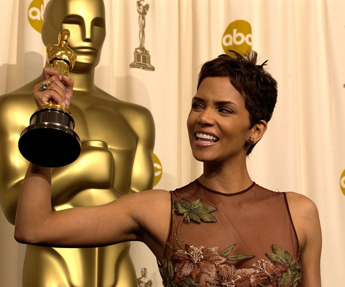 """**The first, but not the last** Halle Berry was understandably teary when she went on stage to accept the Best Actress Oscar for *Monster's Ball*. She was the very first African-American woman to do so - and the grandeur of such a moment was not lost on her. """"This is so much bigger than me,"""" she cried."""