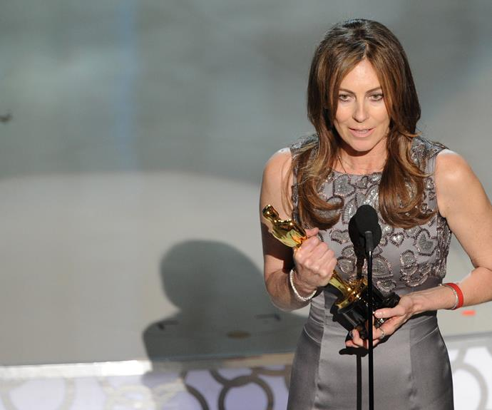 **One for the girls** For her work on *Hurtlocker*, Kathryn Bigelow became the very first woman to ever win a Best Director Oscar.