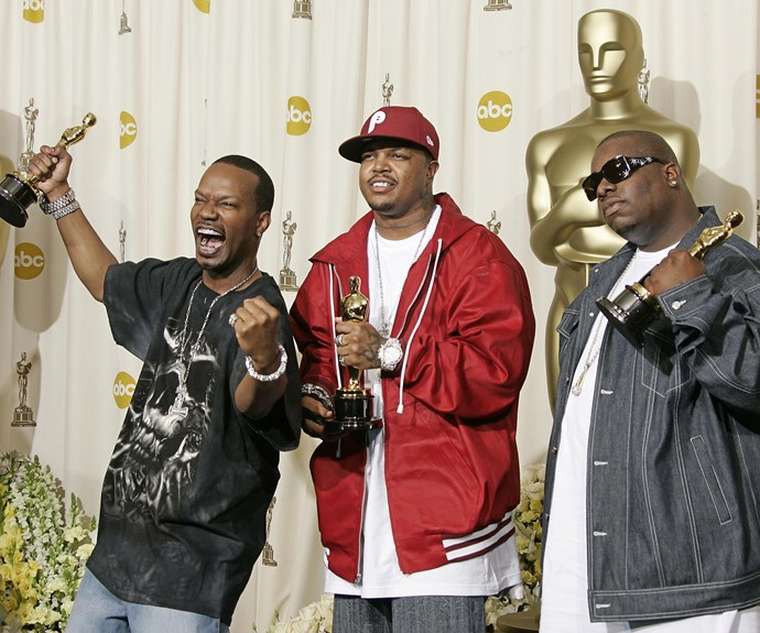 **Big pimpin'** In a surprising move, the Academy proved they did know what a rapper was, and gave  'Best Original Song' to the Three 6 Mafia for their song 'Hard Out Here for a Gangsta' in the movie *Hustle & Flow*.