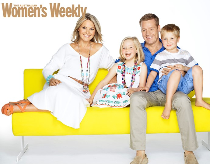 TV personality Georgie Gardener is happiest when spending time with her family, husband Tim and daughter Bronte and son Angus.