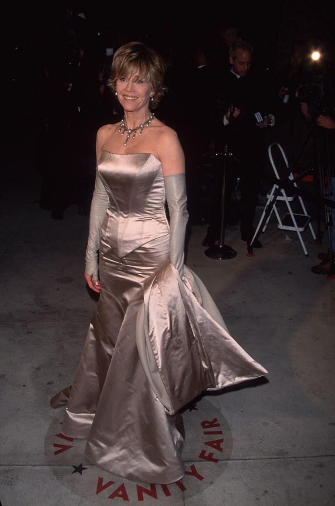 Jane at the 2000 Academy Awards in Vera Wang.