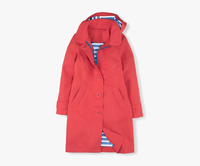 [Boden Rainyday Mac in Soft Red](http://www.bodenclothing.com.au/en-AU/Womens-Coats-Jackets/Coats/WE470/Womens-Rainyday-Mac.html), $124.60.