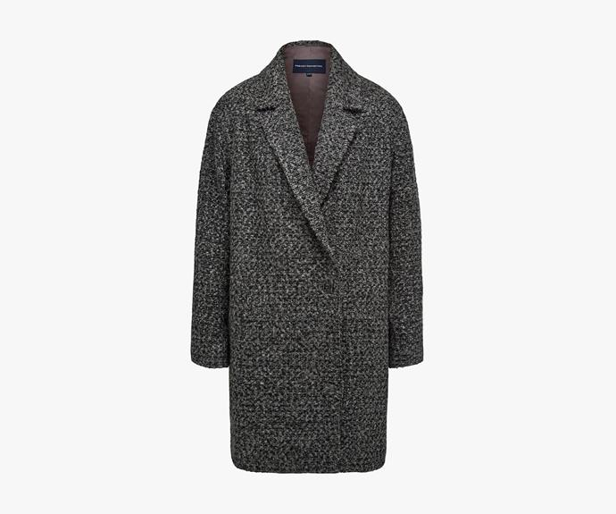 [French Connection Capri Coat](http://www.frenchconnection.com.au/jackets-coats/capri-coat/w2/i7955150_2410736/), $249.95.