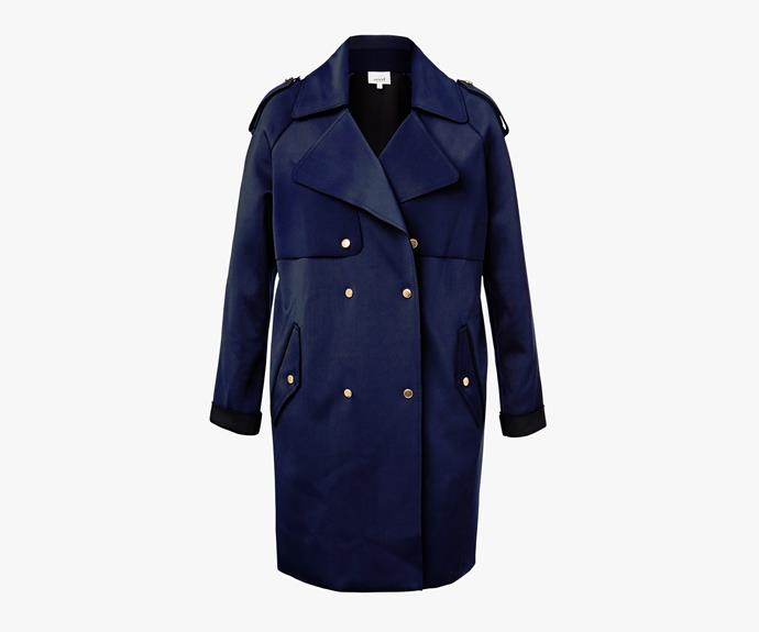 [Seed Heritage Oversized Two Toned Coat](http://www.seedheritage.com/jackets-vests/collection-oversized-two-tone-coat/w1/i12348999_1001332/), $249.95.